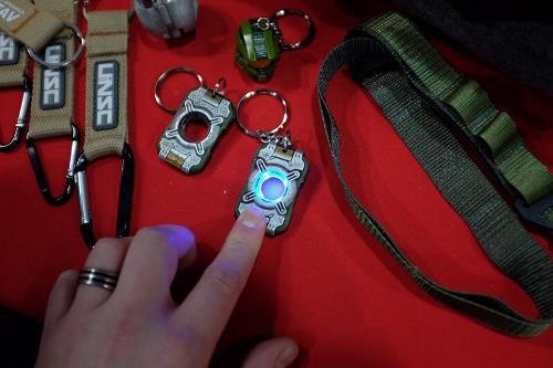 Light Up Cortana Chip Keychain