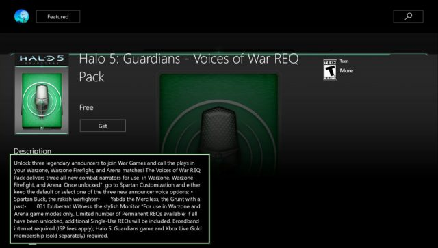 """Voices of War"" REQ Pack"