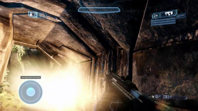 Grenades in Halo 2 Anniversary have dynamic lighting effects on environments.